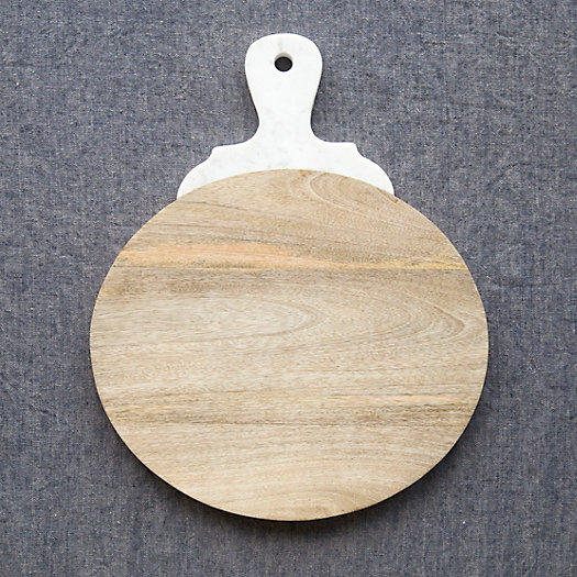 Marble Handle Serving Board