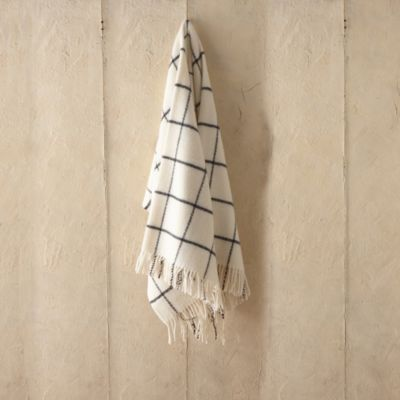 Woolen Grid Throw