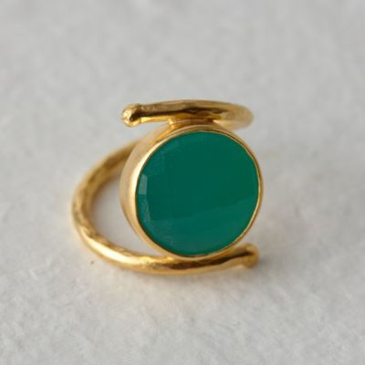 Chalcedony Pool Ring