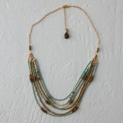 Stone & Sand Layered Necklace