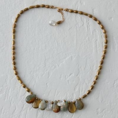 Champagne Agate Necklace