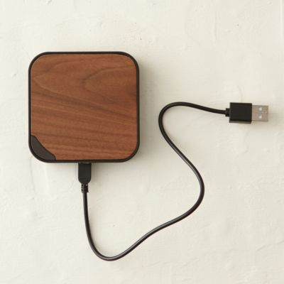 Walnut USB Charging Bank