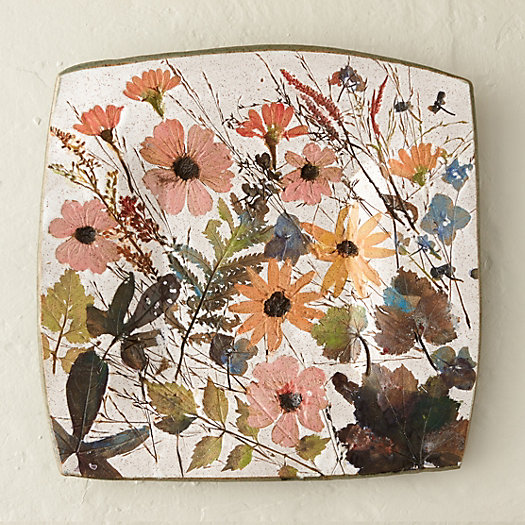 Wildflower Series Square Platter