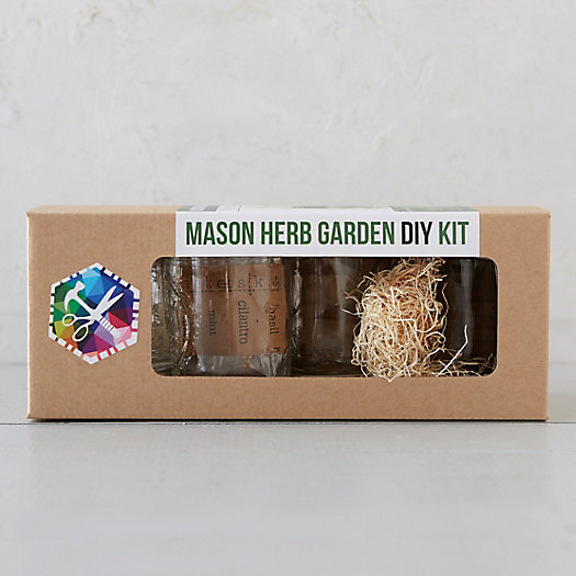 Mason Jar Herb Garden Kit
