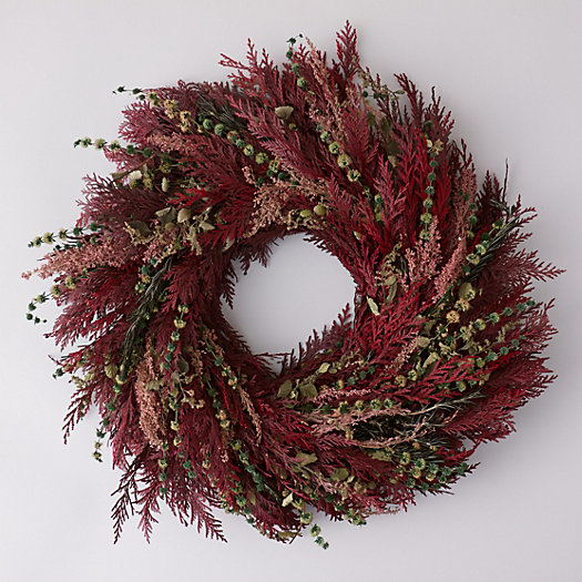 Burgundy Meadow Wreath