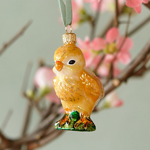 Glass Chick Easter Ornament