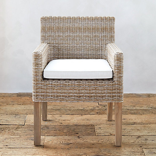 All Weather Wicker & Teak Armchair