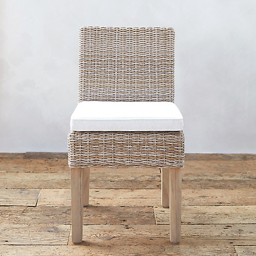 All Weather Wicker & Teak Dining Chair