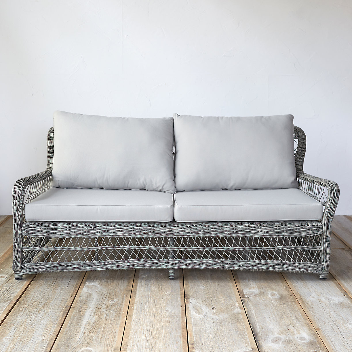 Curved All Weather Wicker Sofa Terrain