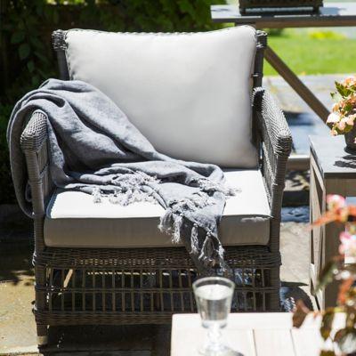 Trellis Weave All Weather Wicker Lounge Chair