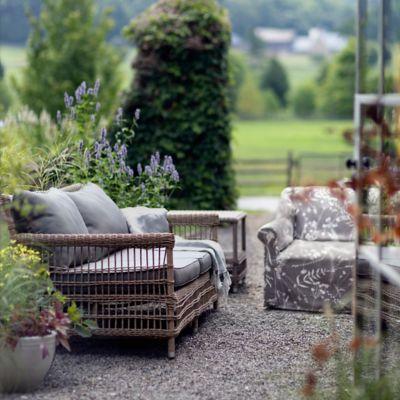 Trellis Weave All Weather Wicker Sofa