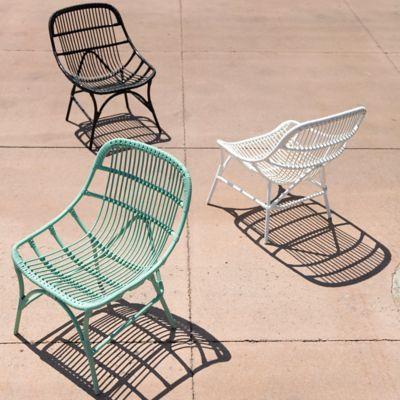 Open Weave All Weather Wicker Side Chair