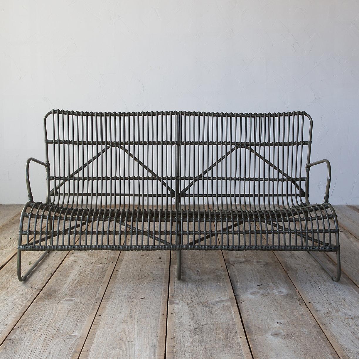 Open Weave All Weather Wicker Sofa Terrain