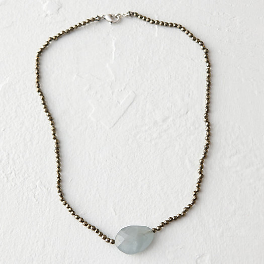 Pyrite & Aquamarine Necklace