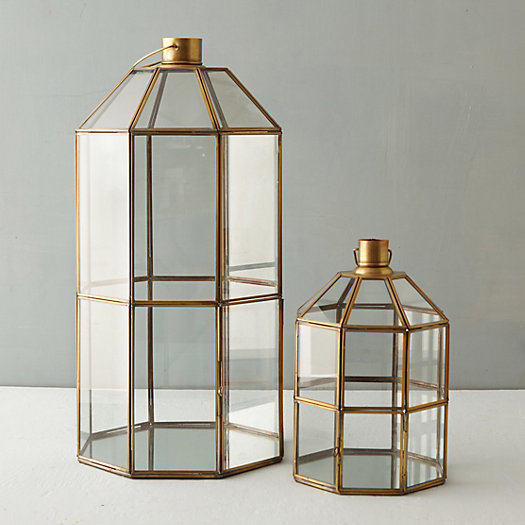 Brass Windowpane Lantern