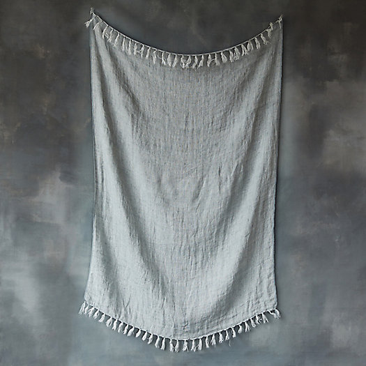 Tasseled Linen Throw