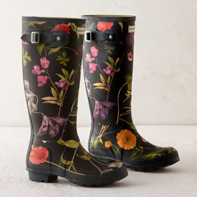 Hunter Floral Garden Boots, Tall