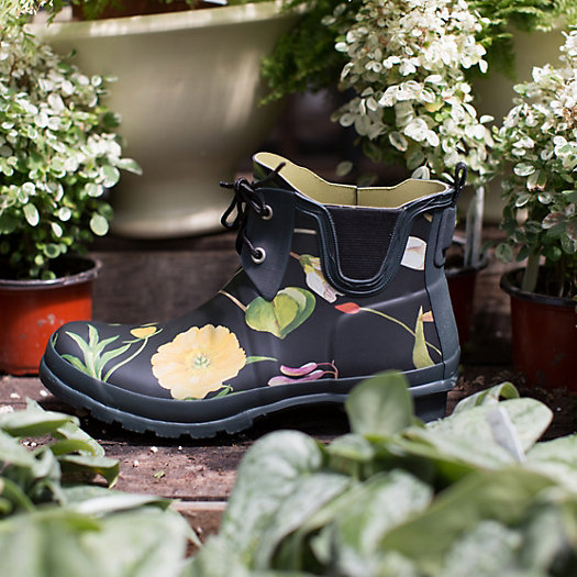 hunter floral garden boots low
