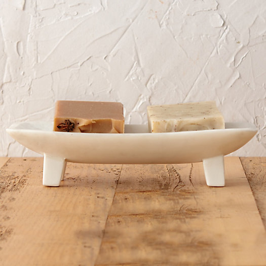 Footed Marble Soap Tray