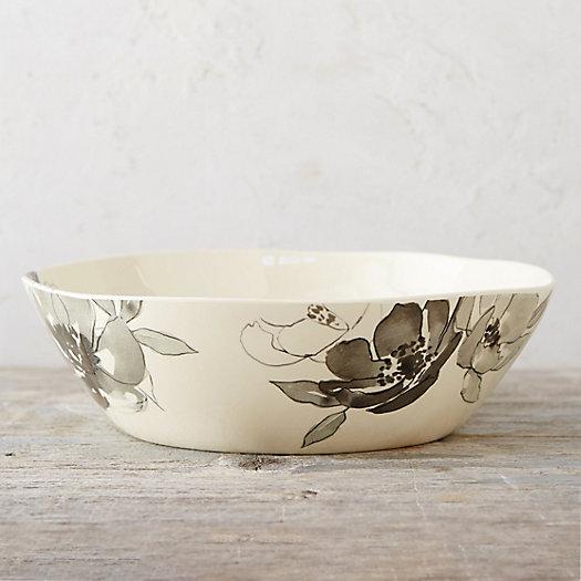 Floral Sketch Melamine Serving Bowl