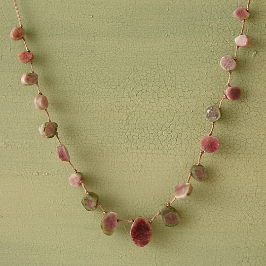 Watermelon Tourmaline Collar Necklace