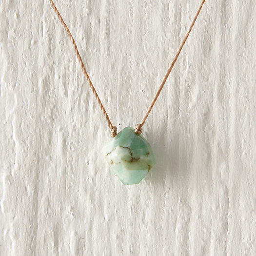Chrysoprase Nugget Necklace