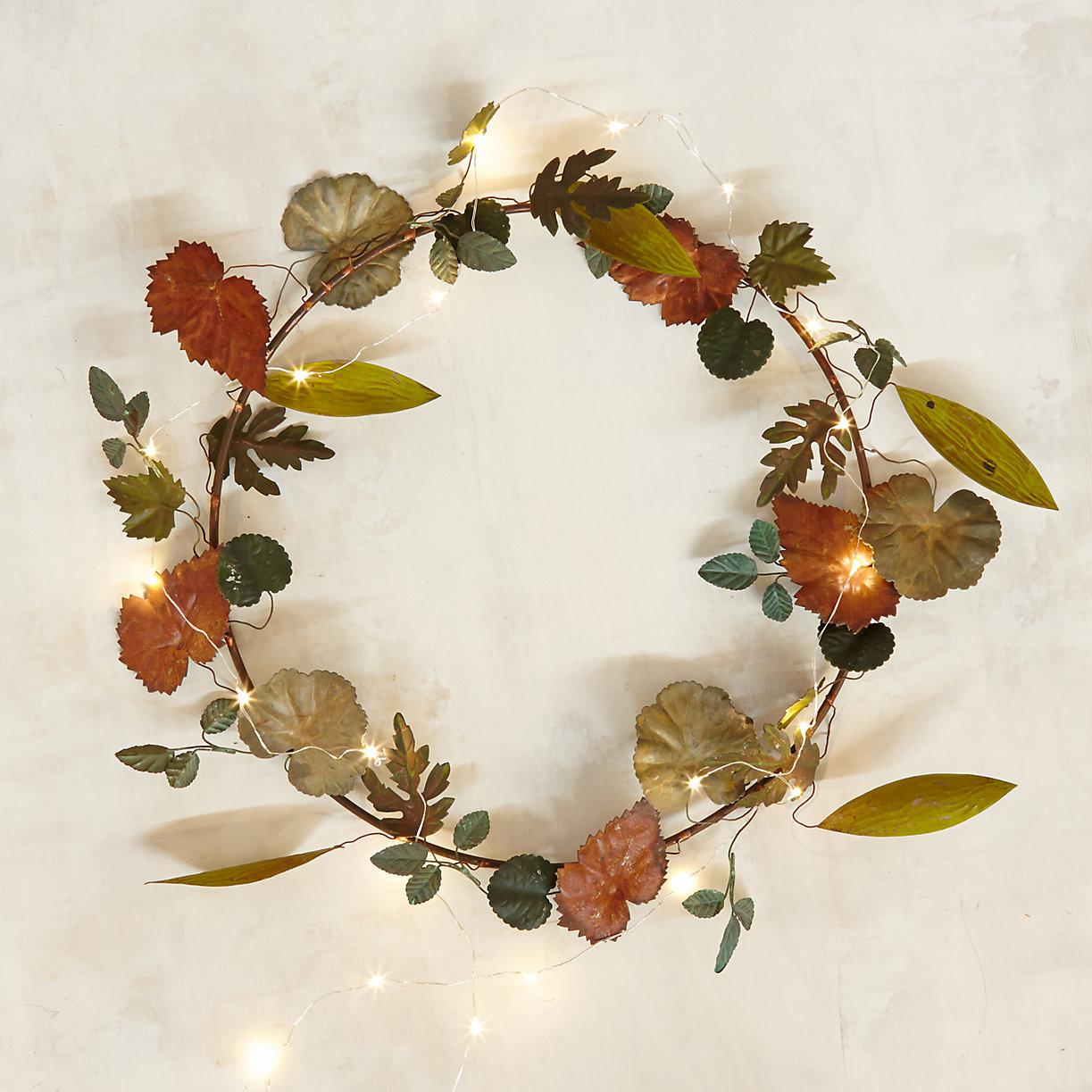 Pressed Metal Leaf Wreath | Terrain