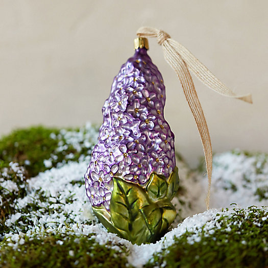 Glass Lilac Ornament