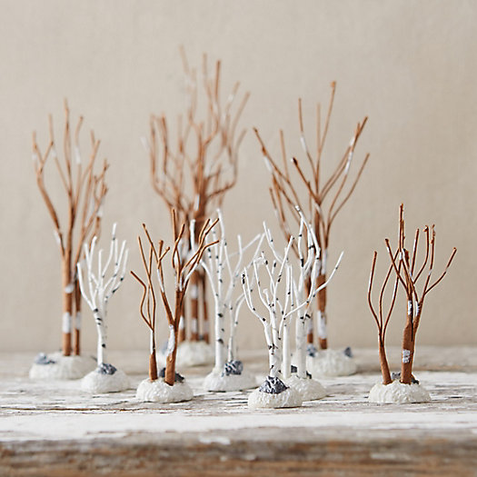 Winter Birch Tree Set