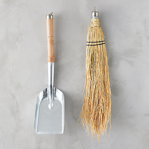 Fireplace Shovel & Brush Set