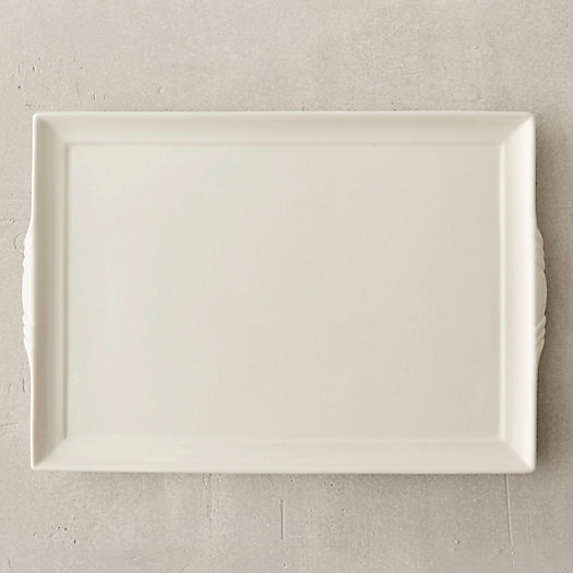 Creamware Rectangle Serving Tray