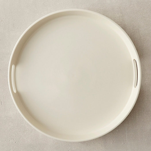 Creamware Round Serving Tray