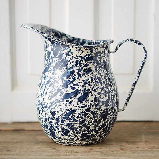 Marbled Enamel Pitcher