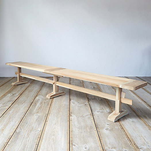 Protected Teak Keyed Bench, 9.5'