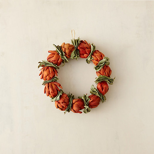 Orange Artichoke & Bay Wreath