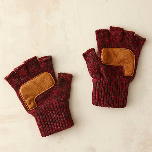 Fingerless Rag Wool Gloves