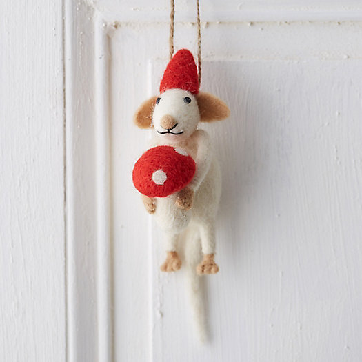 Woolly Mouse Ornament