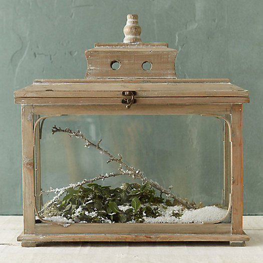 Wood + Glass Greenhouse Terrarium