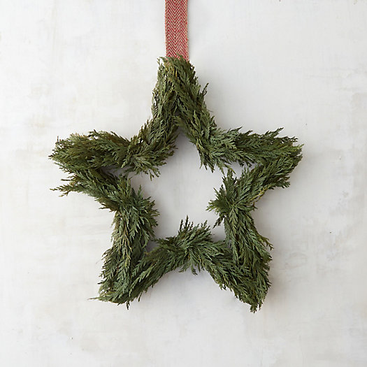 Preserved Cedar Star Wreath