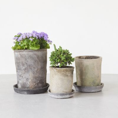 Earth Fired Clay Tall Sill Pot