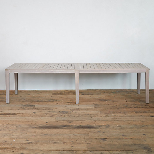 Slatted Teak Rectangle Dining Table