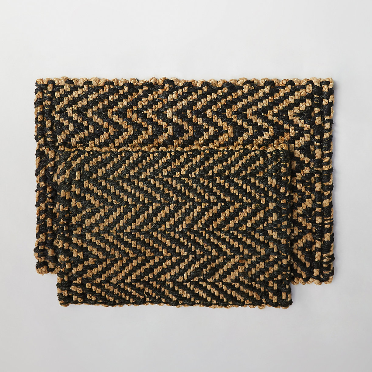 product offer badge jute herringbone doormat