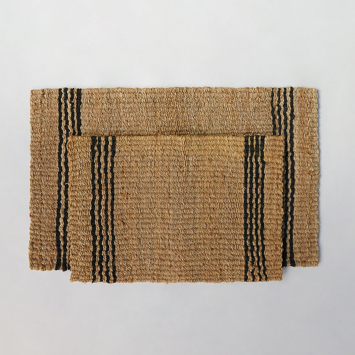 product offer badge vertical stripe jute doormat