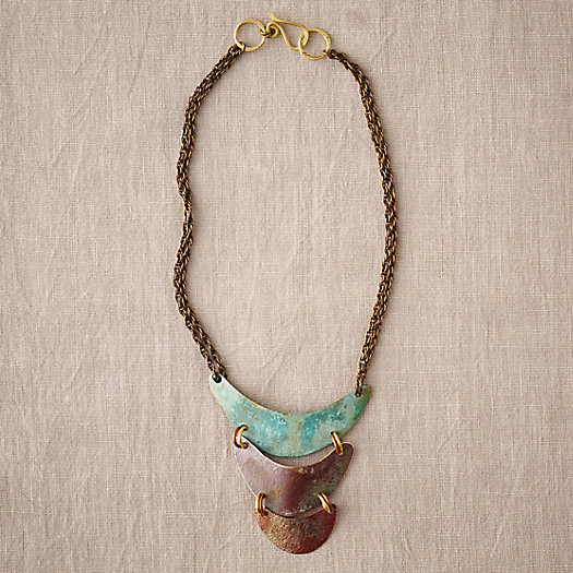 Layered Brass & Copper Necklace