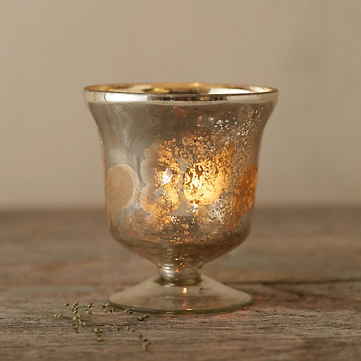 Etched Cordial Glass Votive