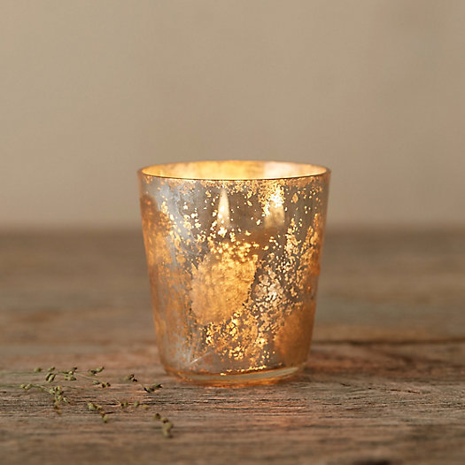 Etched Tea Light Glass Votive