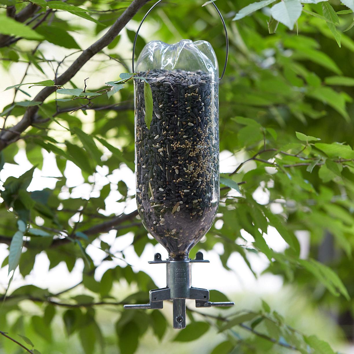 how to make a bottle bird feeder