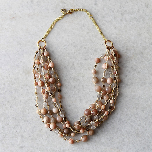 Blush Moonstone Layers Necklace
