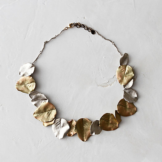 Pear Leaves Collar Necklace