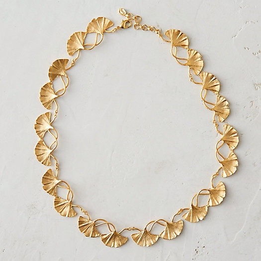 Gingko Leaf Strand Necklace